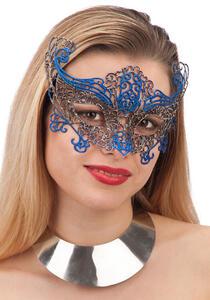 Carnival Toys 1682. Maschera Blu In Plastica C/Glitter