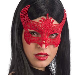 Carnival Toys 1756: Maschera Diavolessa In Tessuto Macrame' Su Cartoncino