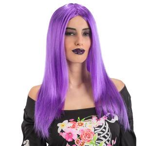 Carnival Toys 2106: Parrucca Lunga Liscia Viola In Busta