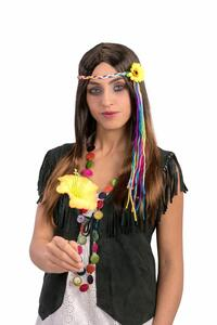 Carnival Toys 2416. Parrucca Hippie Castana
