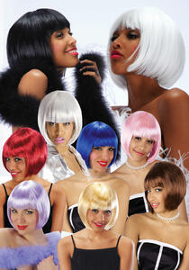 Parrucca lovely colori assortiti