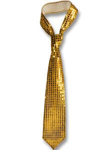 Carnival Toys 3105. Cravatta Lusso Oro In Paillettes