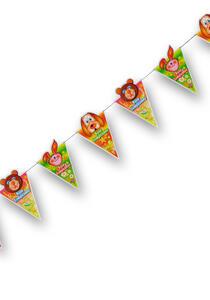 Carnival Toys 4211. Festone Bandierine Buon Compleanno L. Mt.1,40 Ca. H. Cm.25 Ca.