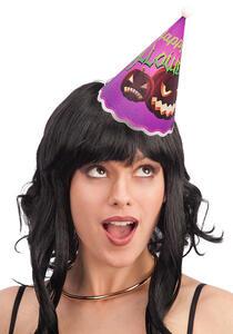 Carnival Toys 4416. Cappellino Lum. Viola Halloween In Plastica Batt.Incl. H.Cm.18 Ca.