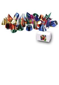Carnival Toys 4421: 100 Cappellini Mignon Metallizzati In Carta H.Cm.5/9 Ca. Mod.Ass.