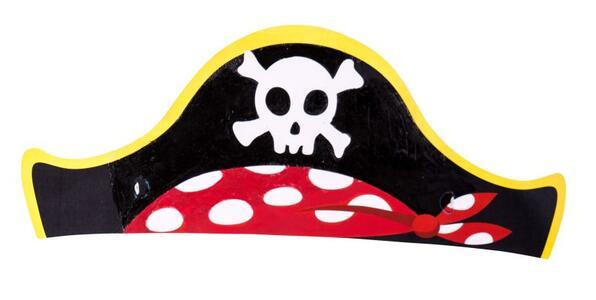 Carnival Toys 4476. 6 Cappelli Pirata In Carta