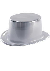 Cilindro Metallizzato Argento In Plastica