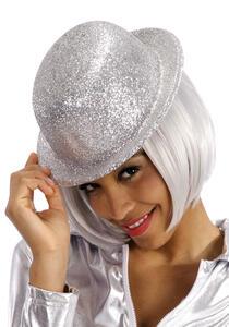 Bombetta con Glitter Argento In Plastica