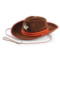 Carnival Toys 5565. Cappello Cow-Boy Grande In Bifloccato