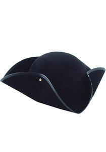Cappello Tricorno In Bifloccato Nero