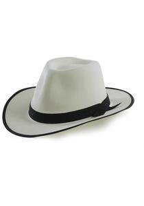Cappello Gangster Bianco In Bifloccato