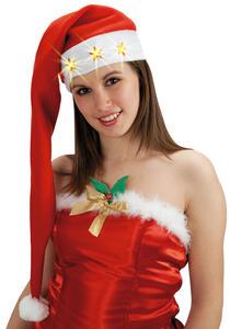 Carnival Toys 5876. Cappuccio Babbo Natale C/Luci Batt. Incl. L.Cm.80 Ca.