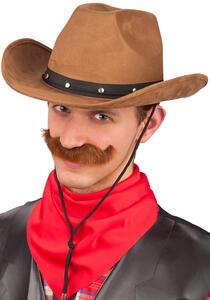 Carnival Toys 6117. Cappello Cow-Boy Marrone Lusso In Tessuto Scamosciato Tg. 58