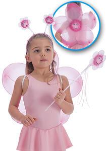 Carnival Toys 6719. Set Fiore Rosa Cerchietto Ali Diam.Cm.45 Ca. E Bacchetta