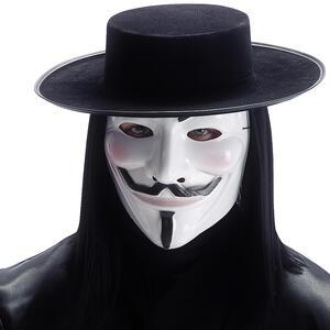 Carnival Toys 6770. Set Mister Vendetta Maschera E Cappello C/Capelli