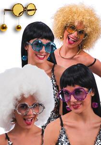 Carnival Toys 6810: Occhiali Disco Dance C/Orecchini Col.Ass.