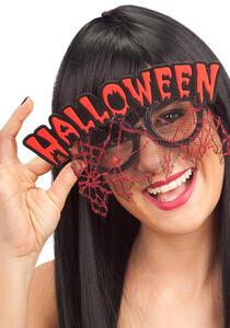 Carnival Toys 6928. Occhiali C/ Scritta Halloween Rossa E Pizzo