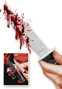 Coltello con Tubetto Sangue Finto L.Cm.22 Ca.