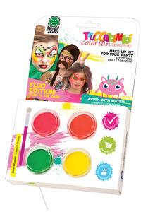 Carnival Toys 7243. Kit Trucco Prof. Ad Acqua Colori Fluo E G.I.D. C/ Pennello
