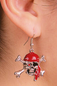Carnival Toys 8342: Orecchini Teschio Pirata In Metallo