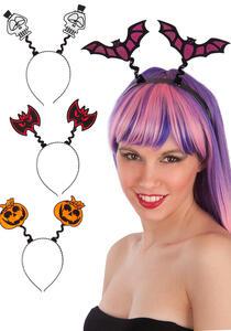 Carnival Toys 8355: Cerchietto Halloween C/Applic.Rifrangenti Mod.Ass.