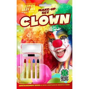 Carnival Toys 9430: Fondotinta Bianco Clown + 4 Matite In Blister