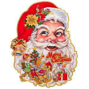Carnival Toys 9708. Poster Babbo Natale In Carta In Rilievo C/Glitter H.Cm.60X50 Ca.