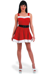Carnival Toys 27030. Costume Natale Donna In Velluto T.U. S-M