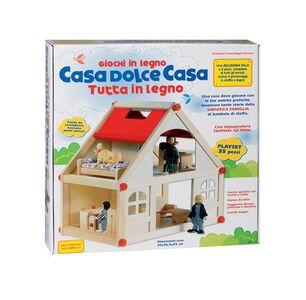 Giocattolo Casetta Legno con Personaggi + Mobili Ronchi Supertoys 0
