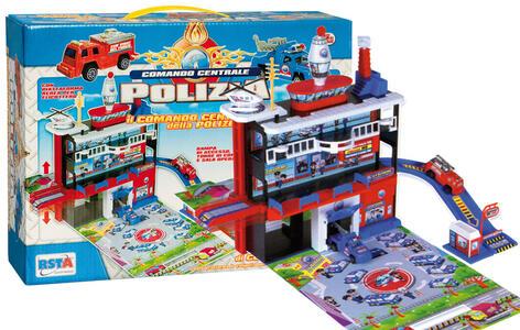Stazione Polizia + 2 Auto + Elicottero
