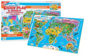 Giocattolo Puzzle Magnetico Mappa Mondo Ronchi Supertoys