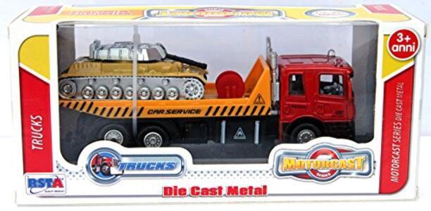 Macchinina D/C Camion Trasp con Veicolo Ass RST Asia - 4