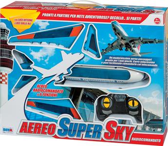 Giocattolo RC Aereo Super Sky con Luci RST