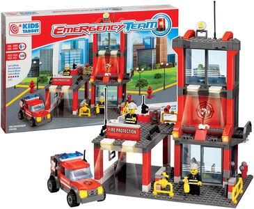 Giocattolo Caserma Pompieri Costruzioni 300Pz Ronchi Supertoys
