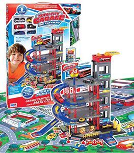 Garage A Piani con Auto con Tappeto Ronchi Supertoys