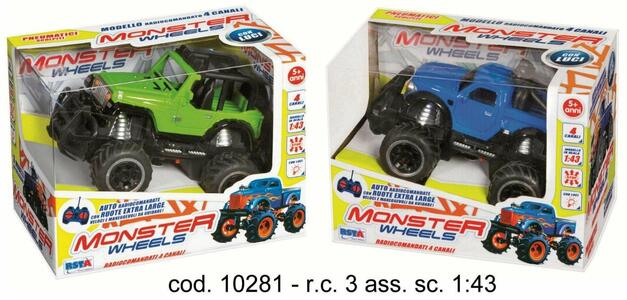 Rc Fuoristrada Monster 27mhz - 2