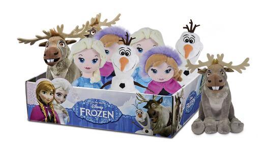 Frozen. Peluche 20 Cm Assortimento Anna Elsa Olaf Sven Seduto