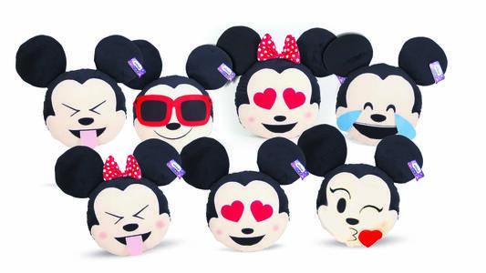 Peluche Emoticon Mickey Minnie 28Cm Ass.