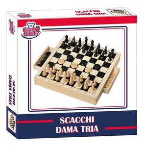 Dama + scacchi in legno - 2