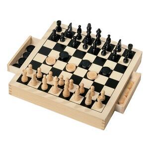 Dama + scacchi in legno - 3