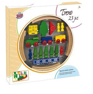 Treno Legno 23 pezzi