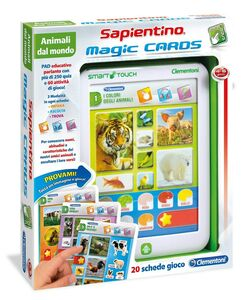 Giocattolo Sapientino Magic Cards Animali dal Mondo Clementoni 0