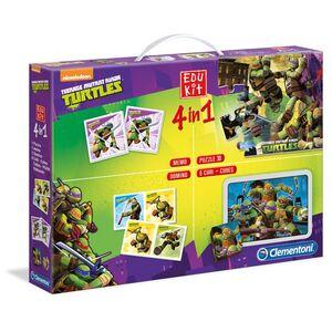 Giocattolo Teenage Mutant Ninja Turtles. Edukit 4 in 1 Clementoni 0