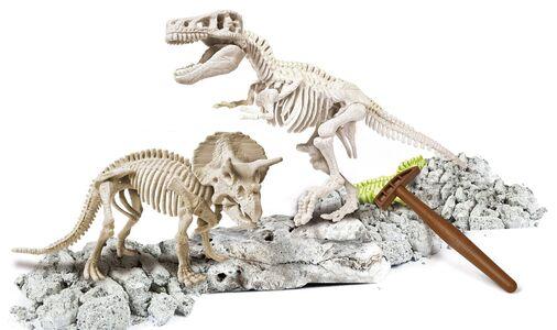 Giocattolo Focus Junior. Archeogiocando. T-Rex e Triceratopo Clementoni 1