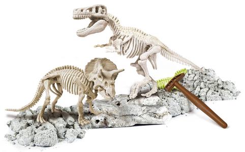 Giocattolo Focus Junior. Archeogiocando. T-Rex e Triceratopo Clementoni 2