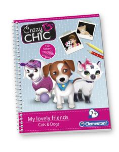 Giocattolo Cani e gatti sketchbook Clementoni Clementoni