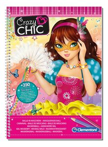 Giocattolo Crazy Chic Sketchbook Maschere Clementoni