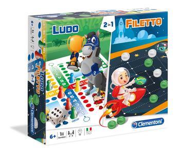 Ludo / Filetto. Giochi Da Tavolo 2 In 1 - 2