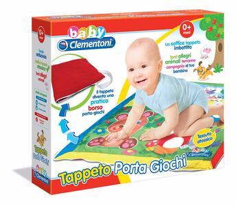 Baby Clementoni. Tappeto Portagiochi Amici Animali - 5