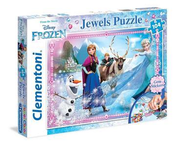 Puzzle Jeweles 104 pezzi Frozen. Personaggi